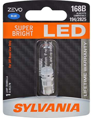SYLVANIA - 168 T10 W5W ZEVO LED Blue Bulb - Bright LED Bulb, Ideal for