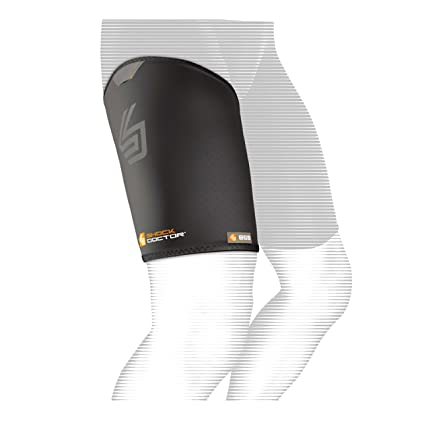 ef118843e6 Amazon.com: Shock Doctor Thigh-Groin Sleeve (Black): Sports & Outdoors