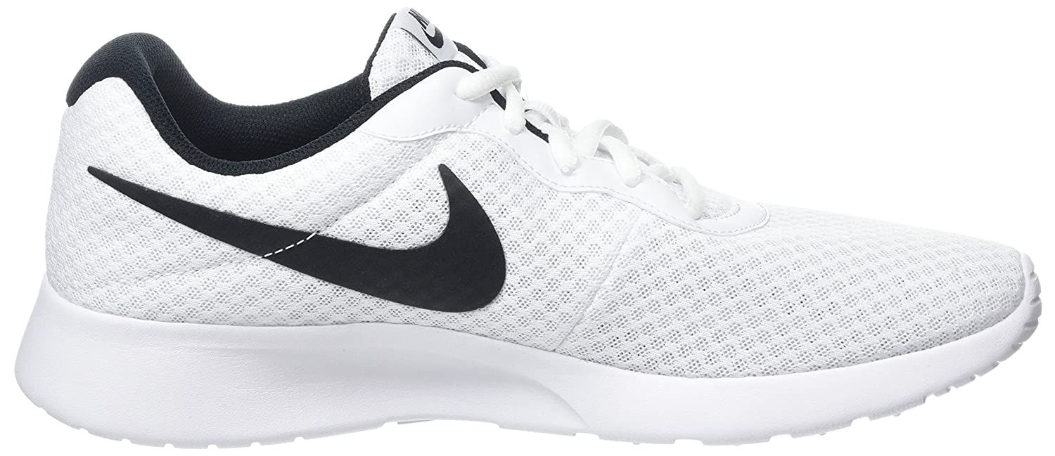 Amazon.com | Nike Womens Tanjun Gymnastics Shoes, (White/Black 100), 6.5 UK | Fashion Sneakers