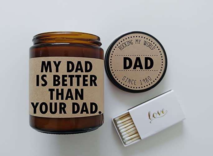 Amazon Funny Fathers Day Gift For Dad My Is Better Than Your Birthday Card Candle Him Father