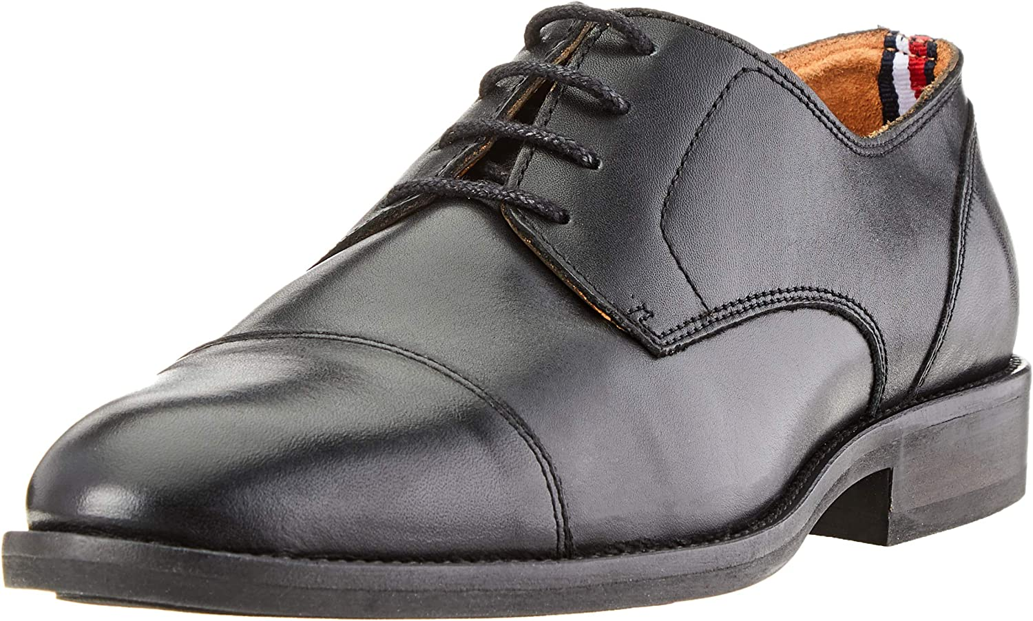 TALLA 42 EU. Tommy Hilfiger Essential Leather Toecap Lace Up, Zapatos de Cordones Oxford para Hombre