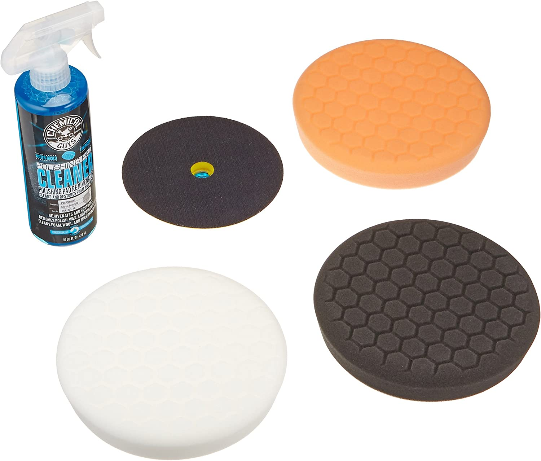 "16 16 fl 4 Items oz 4 Pack Chemical Guys HEX/_3KIT/_6 6.5/"" Buffing Pad Kit"