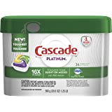 Cascade Platinum ActionPacs Dishwasher Detergent, Lemon, 36 count (Packaging May Vary)