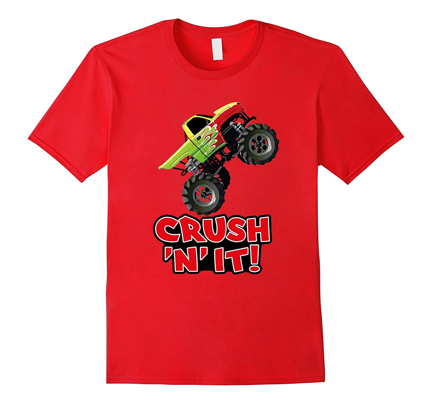 CRUSH N IT Monster Truck Jam tee for adults and kids-TH