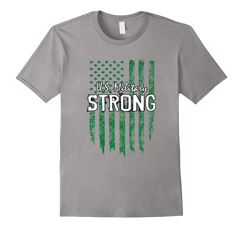 Military green workout shirt - US Military Strong-Vaci