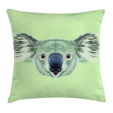 Jxrodekz Animal Funda de cojín Almohada, Tropical Koala Bear ...