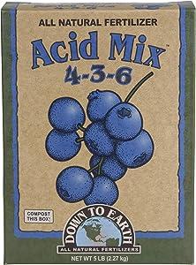 Down to Earth All Natural Acid Mix Fertilizer 4-3-6, 5 lb