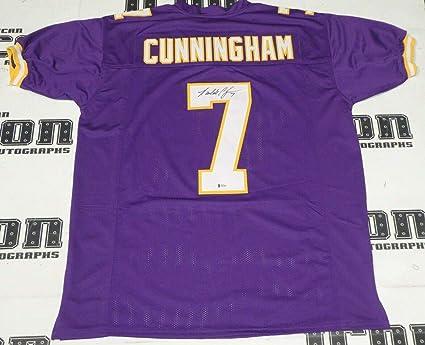 hot sale online 98d12 ce71a Signed Randall Cunningham Jersey - BAS Beckett COA MVP ...