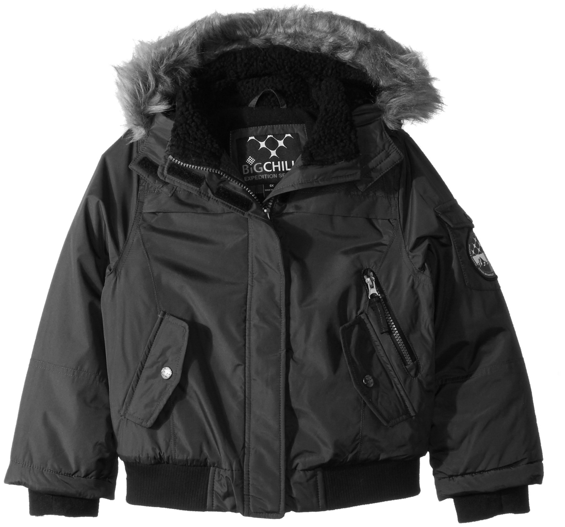Big Chill Little Girls' Expedition Bomber, Forrest, 5/6