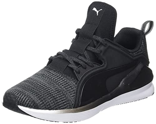 Nero 41 EU PUMA FIERCE LACE KNIT WN'S SCARPE SPORTIVE INDOOR DONNA BLACK WHITE