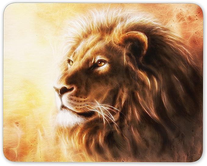 Tapis De Souris Majestic Lion Art Dessin Lions Chat Maman Papa Cadeau Ordinateur 8800 Amazon Fr High Tech