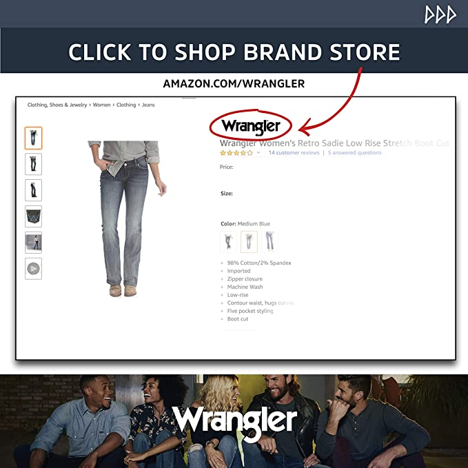 0f1e0a86771 Wrangler Women s Cool Vantage Q-Baby Ultimate Riding Jean at Amazon Women s  Jeans store