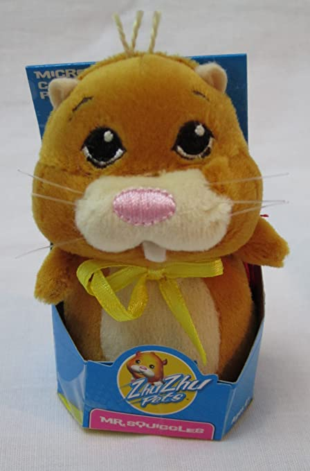 Amazon Com Zhu Zhu Pets Micro Collectible Plush Mr Squiggles Toy Toys Games