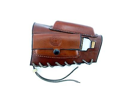 Amazon com : Brass Stacker MK98ACRH Rick Lowe Leather Ammo