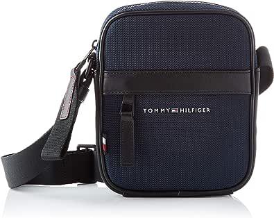 Tommy Hilfiger Elevated Nylon Mini Reporter, Bolsas. para Hombre, Cielo del desierto, Talla única