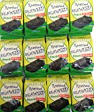 (Pack of 12) All Natural Seaweed (Nori) Snack Roasted with OLIVE oil 5g