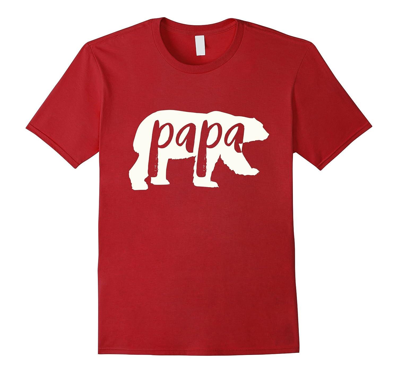papa bear shirt white-CL
