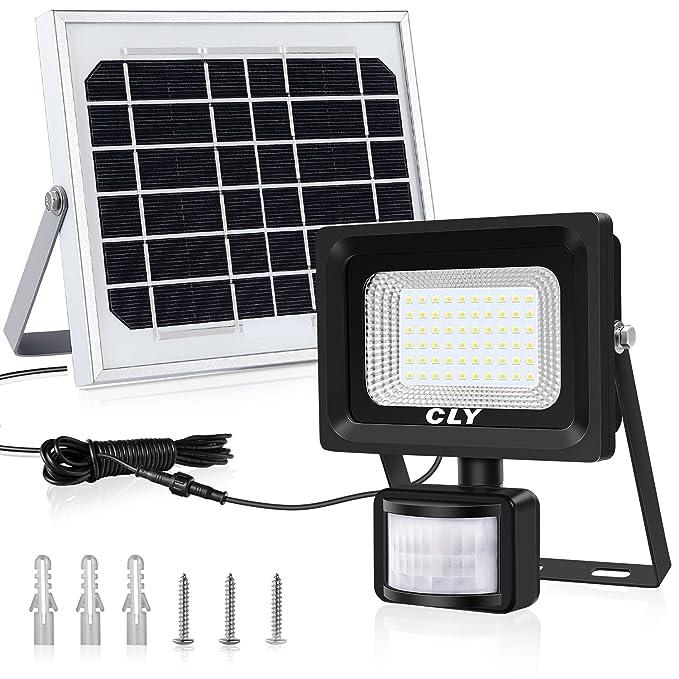 150 opinioni per CLY Faretto Solare con Sensore di Movimento 60 LED, Luce Solare da Esterno, Faro
