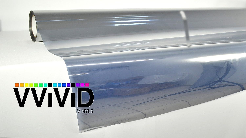 One-Way Silver Mirror Finish Static Cling Vinyl Window Wrap Film DIY Roll Various Sizes 17.75 x 5ft VViViD staticsilverwindowroll1