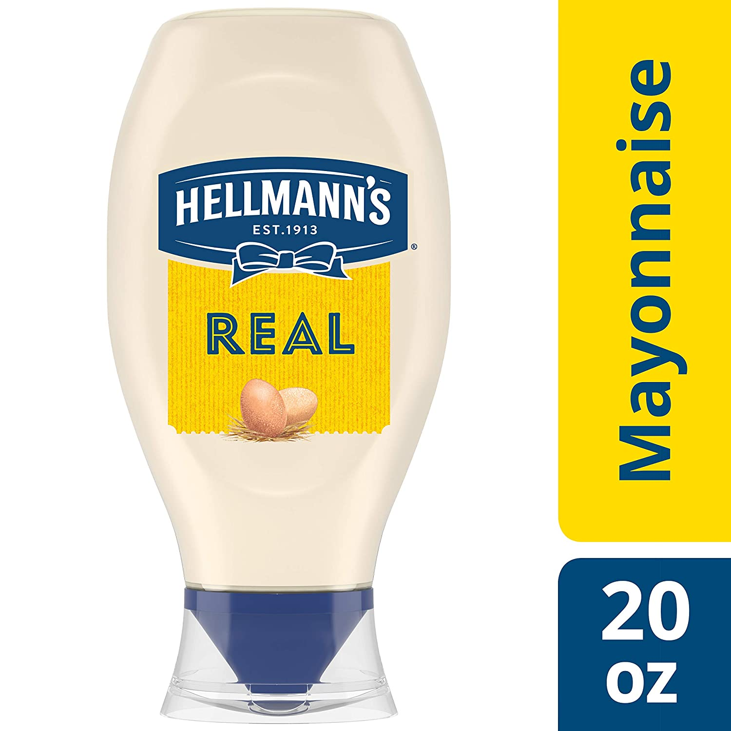 Hellmann's Real Mayonnaise, 20 Ounce Squeeze Bottle