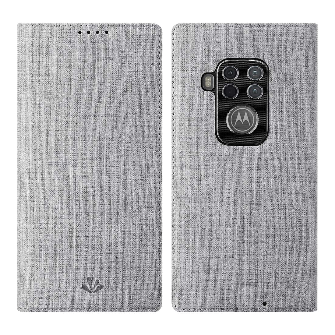 Funda Flip Cover Para Motorola One Zoom, Gris
