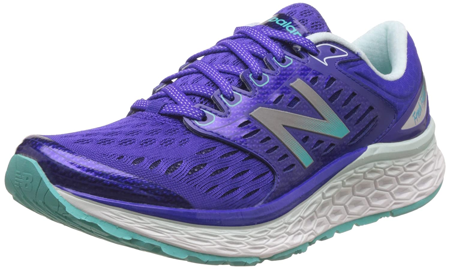 New Balance Women's Fresh Foam 1080v6 Running Shoe B019CVP30E 7.5 D US|Blue/White