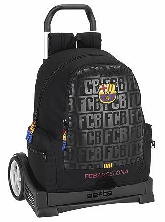 Safta Mochila Espalda Ergonómica F.C.Barcelona Black Con Carro Safta Evolution: Amazon.es: Equipaje