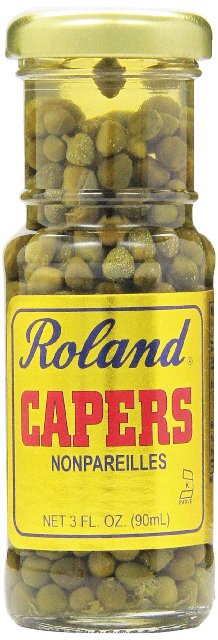 Roland Nonpareille Capers, 3 Ounce (Pack of 12)