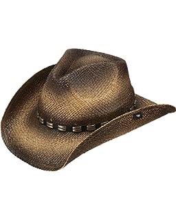 Peter Grimm Ltd Unisex Keanu Straw Cowboy Hat Aqua One Size
