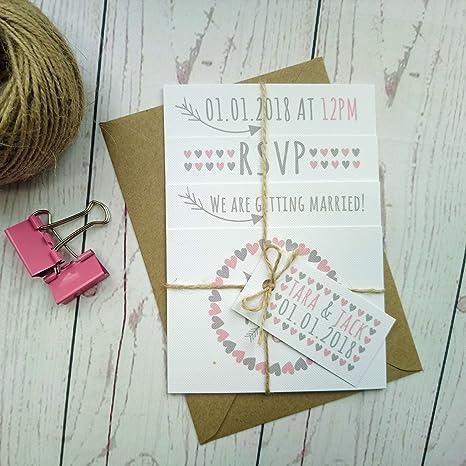 Invito Matrimonio Rustico : Cuori e frecce rustico wedding invitation photo set vintage
