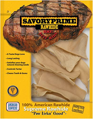 Savory Prime Rawhide Chips, 4-Ounce