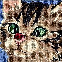 "Dimensions Kitty strabico Needlepoint Mini Kit-5""X 5"" cucita"