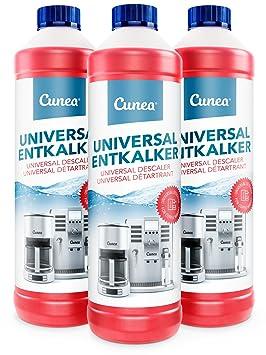 Cunea I Descalcificador liquido I Para máquinas de café esprreso (3x 750ml): Amazon.es: Hogar