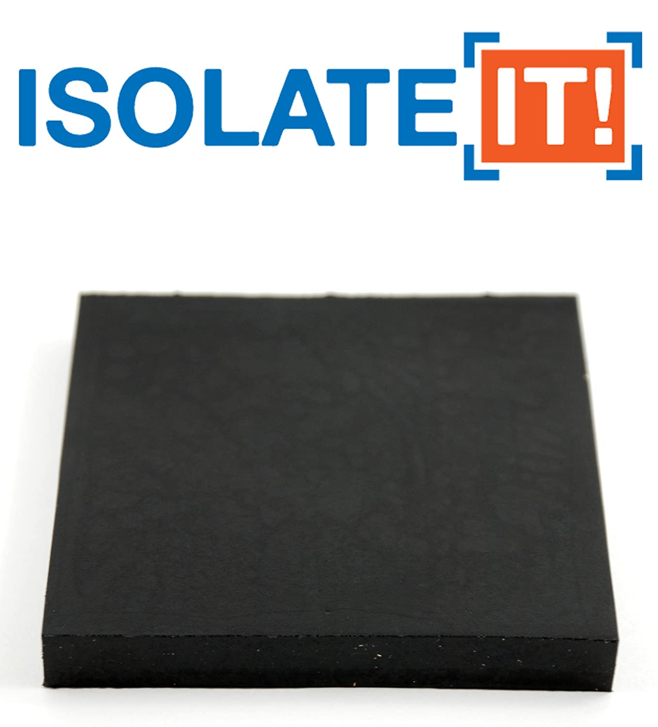 Isolate It Sorbothane Vibration Isolation Square Pad 70 Duro .50 Thick 4 X 4 2 pack