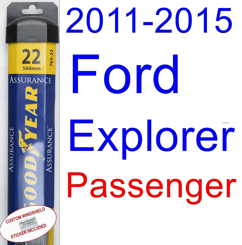 2011 2015 ford explorer wiper blade passenger