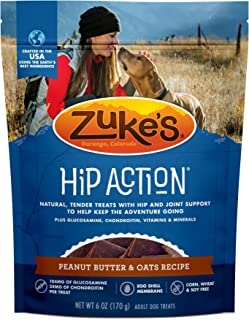 product image for Zuke's Hip Action Hip & Joint Dog Treats Peanut Butter & Oats Recipe - 6 oz. Bag