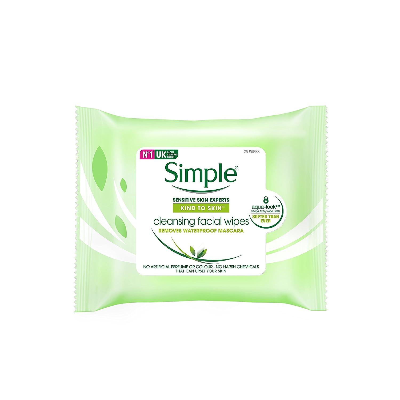 Simple Gesichtspflege Reinigungstücher, 25 Stück 25 Stück 2648681