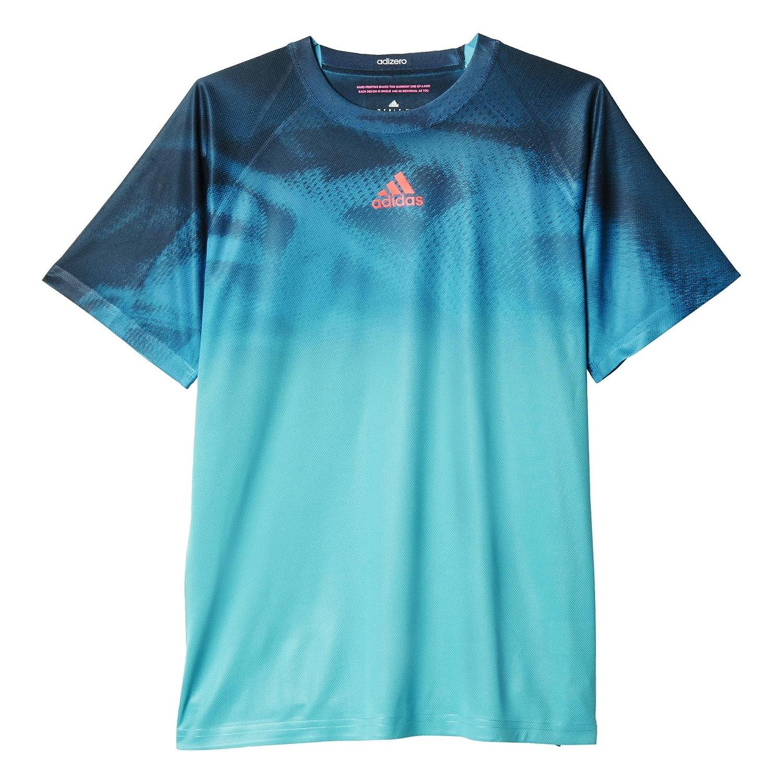 Adidas Adizero tee - Camiseta para Hombre, Color Azul/Rojo, Talla ...