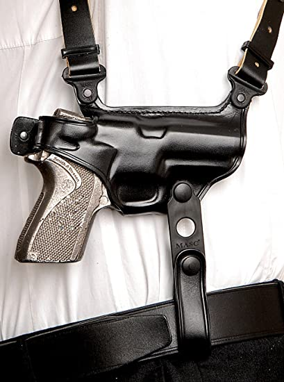 Amazon com : Leather Shoulder Holster Double MAG Carrier for