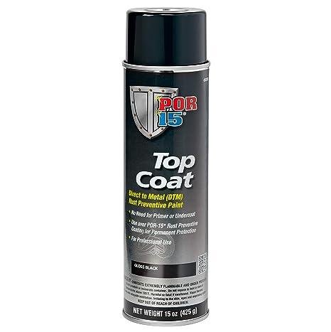 POR-15 45818 Top Coat Gloss Black Spray Paint, 15  Fluid_Ounces