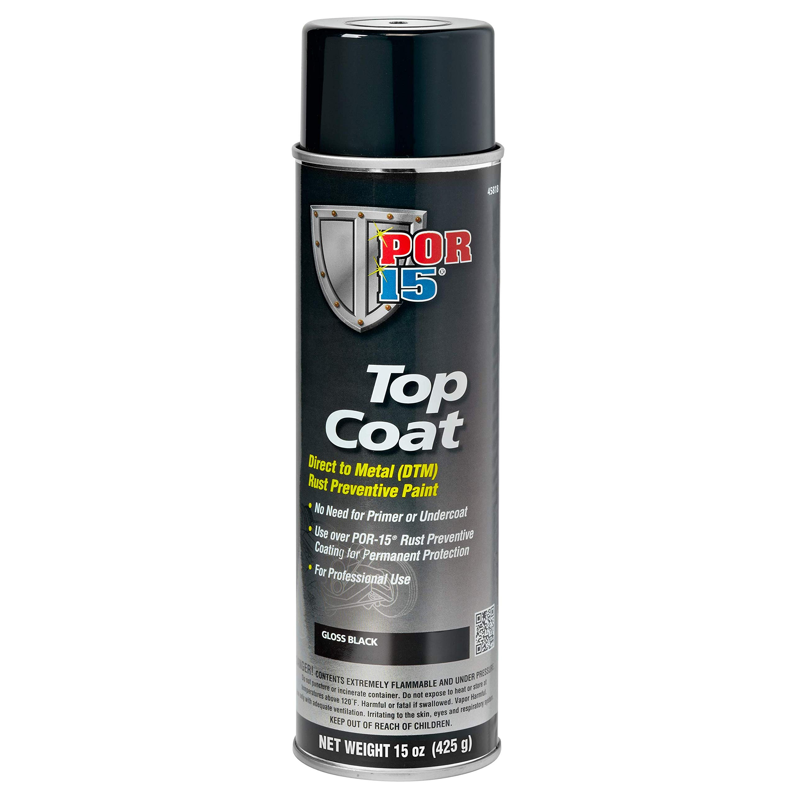 POR-15 45818 Top Coat Gloss Black Spray Paint, 15. Fluid_Ounces