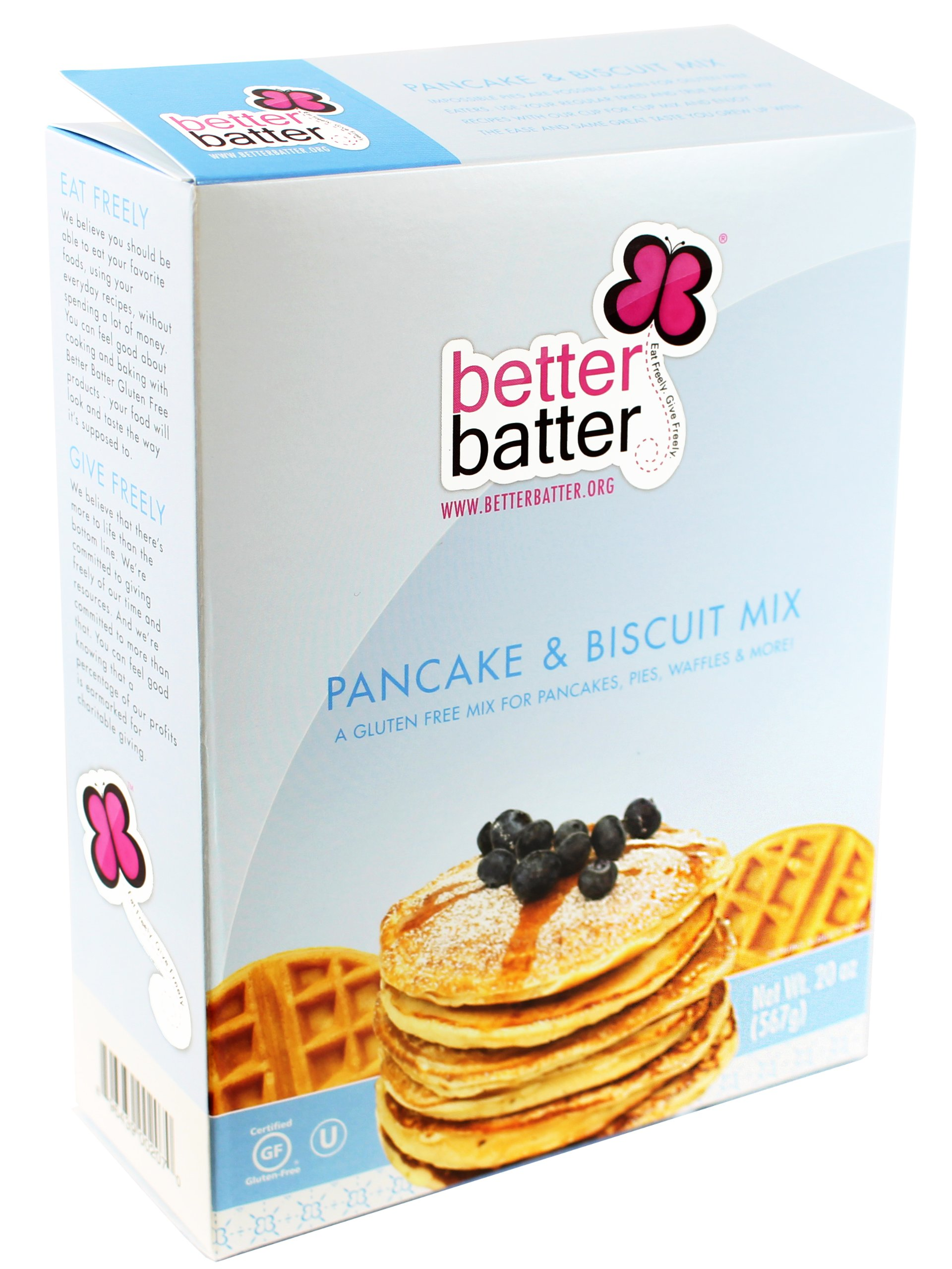 Better Batter Pancake and Biscuit Mix Gluten Free -- 20 oz