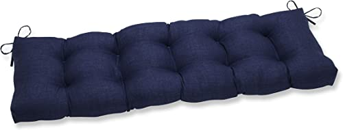 Pillow Perfect Outdoor Indoor Rave Indigo X 18 2 Tufted Bench/Swing Cushion