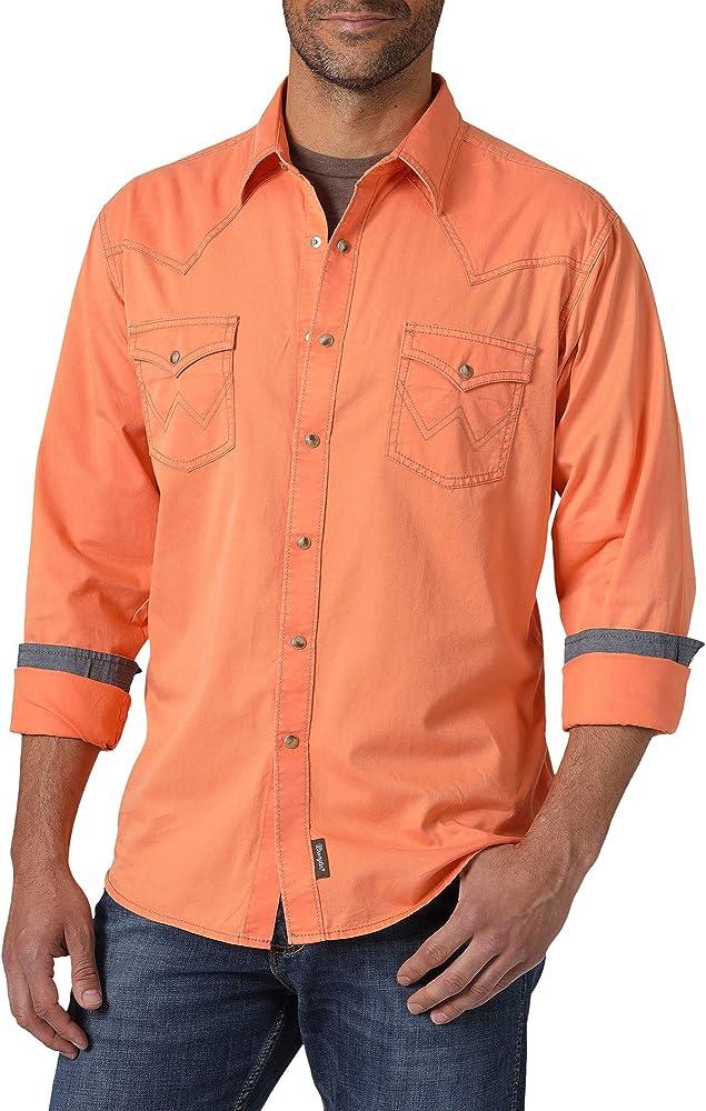 Wrangler MVR498O Camisa Abotonada, Coral, S para Hombre: Amazon.es: Ropa y accesorios
