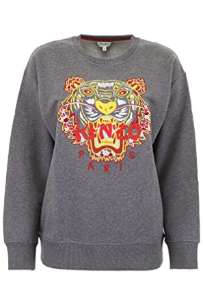 ee910a77fb3 Kenzo Womens Grey 'Dragon Tiger' Sweatshirt at Amazon Women's ...