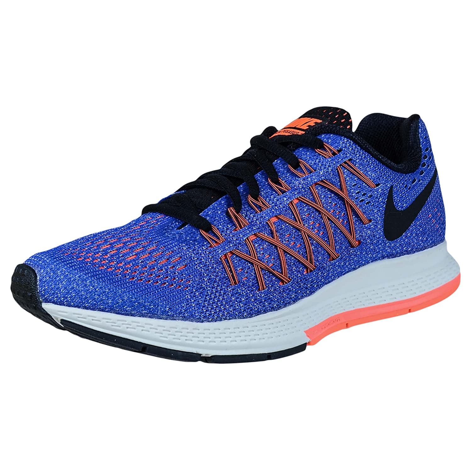 NIKE Women's Air Zoom Pegasus 32 Running Shoe B010OC63AE 11 D(M) US|Racer Blue/Black-hyper Orange-bright Mango