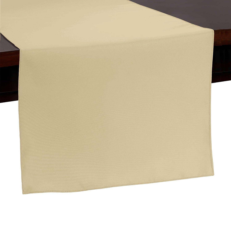 究極Textile 14 xポリエステル108インチテーブルランナー 5 Pack ベージュ 5PK1-14X108-102 5 Pack ハニー B0796GVJKB