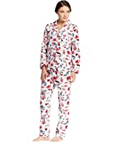 Gilligan and O'Malley Women's Woven Flannel Pajama Set