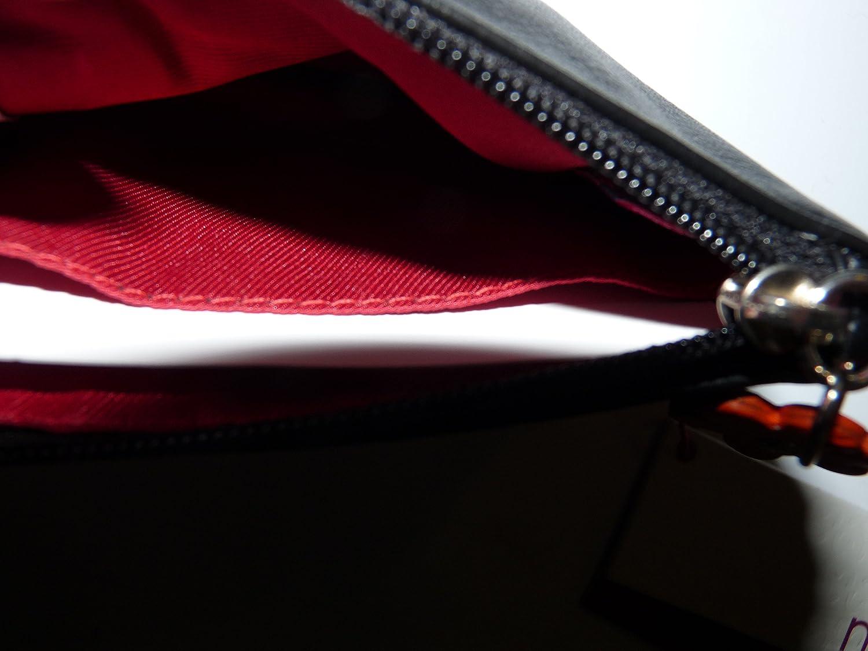 CUTE ROBIN MALA leather black RFID protected LUXURY COIN PURSE 4151 97
