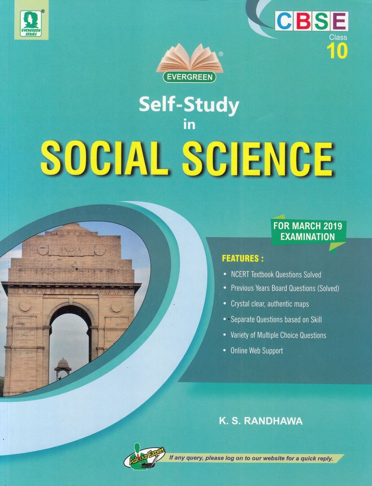 CBSE Self Study In Social Science: For Class 10 2018-2019 Session:  Amazon.in: K.S. Randhawa: Books